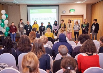 Students brave the Dragons Den to pitch for funding for their community social action projects.